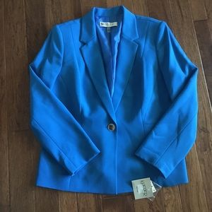 Blue Kasper suit jacket sz 14P